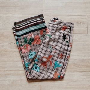 Zara Flower Print Wide Leg Pants